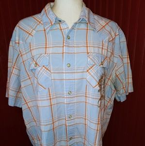 Aeropostale Athletic Fit Pearl Snap Shirt XL